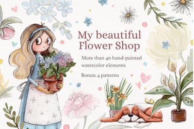 My beautiful Flower Shop +bonus: 4 patterns