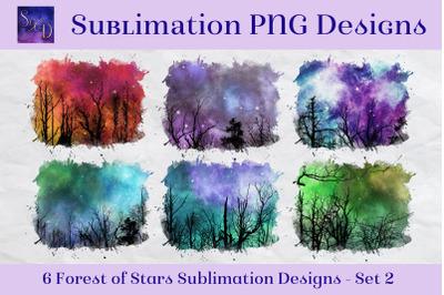 Sublimation PNG Designs - Forest of Stars Images - Set 2