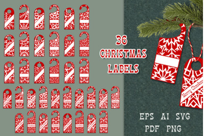 Christmas gift labels.