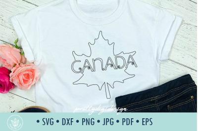 Canada maple leaf SVG line minimalist design