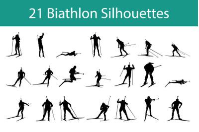 Biathlon Silhouette Set
