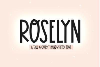Roselyn - A Fun Handwritten Font