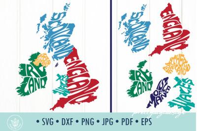 United Kingdom countries, Ireland, England, Scotland, Wales, Northern