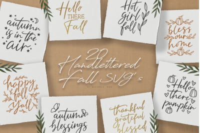 Handlettered Fall quotes svg cut files