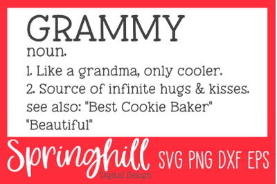 Grammy Definition SVG PNG DXF & EPS Design Cutting Files