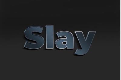 Slay 3D Text Effect PSD