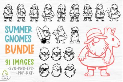 Summer gnome svg bundle Beach gnomes svg Beach svg bundle