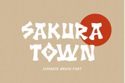 Sakura Town - Brush Typeface