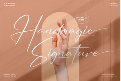 Handmagic Signature  Stylish Signature Font