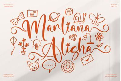 Marliana Alisha  Beautiful Ornament Font