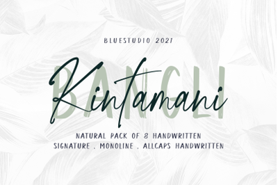 Bangli Kintamani 8 Handwritten Fonts