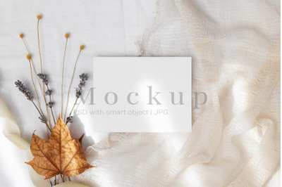 Greeting Card,Smart Object Mockup,5.5x4.25 Card Mockup