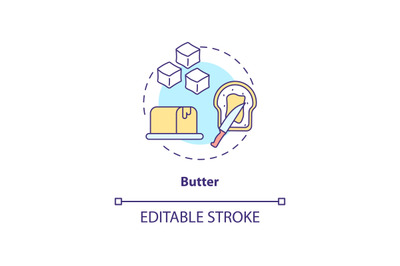 Butter concept icon