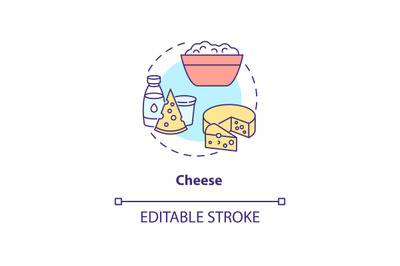 Cheese production concept icon