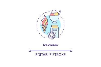 Ice cream concept icon