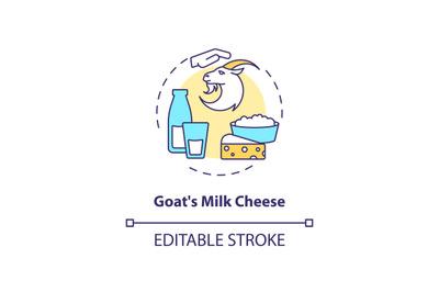 Goat milk cheese concept icon