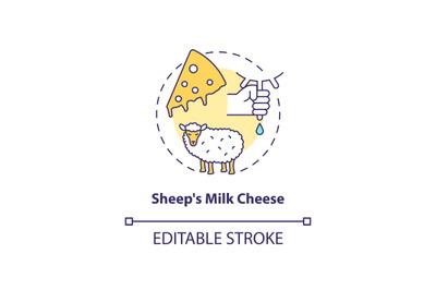 Sheep milk cheese concept icon