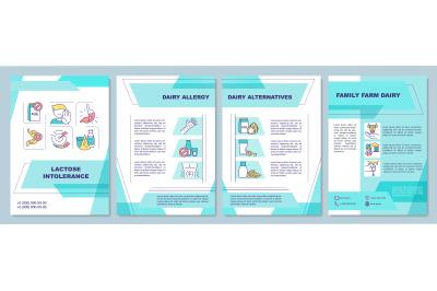 Lactose intolerance brochure template