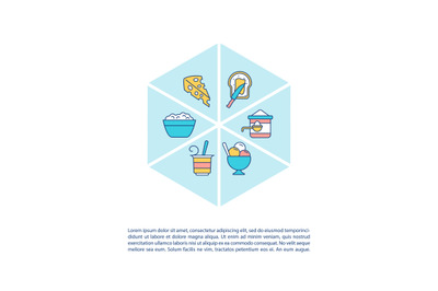 Dairy products concept icon with text