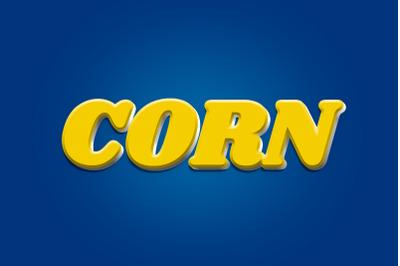 Corn 3D Text Effect PSD