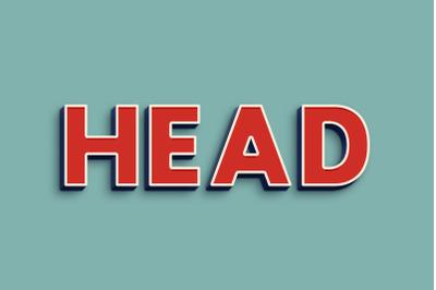 Head 3D Text Effect PSD