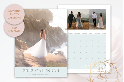 PSD Photo Calendar Template 2022 #4