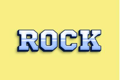 Rock 3D Text Effect PSD