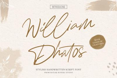 William Dhatos - Signature Font