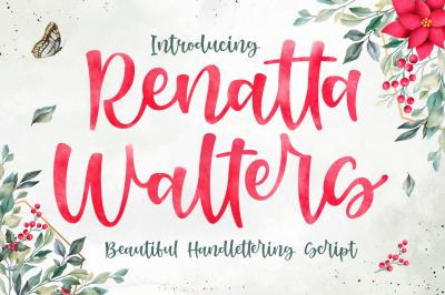 Renatta Walters Font - Modern Script