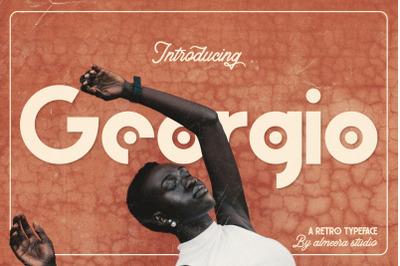 Georgio | Retro Typeface