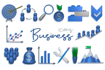Business Icons - 3D