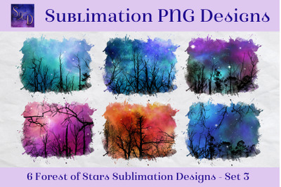 Sublimation PNG Designs - Forest of Stars Images - Set 3