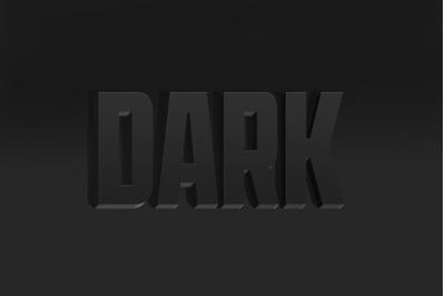 Dark 3D Text Effect PSD