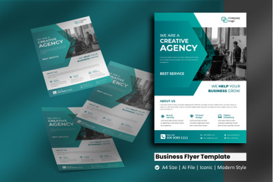 Green Corporate Business Flyer Template