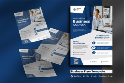 Blue Company Flyer Template