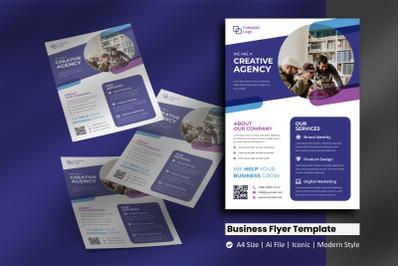 Purple Business Creative Flyer Template