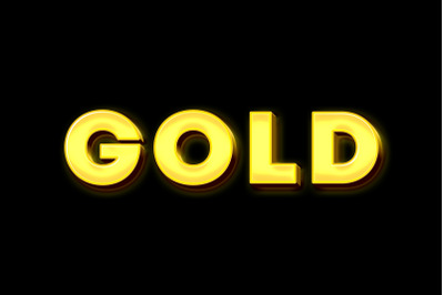 Gold 3D Text Effect PSD