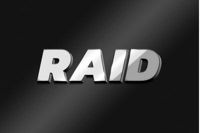 Raid 3D Text Effect PSD