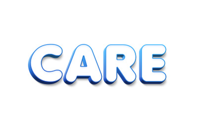 Care 3D Text Effect PSD