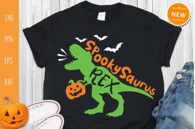 Halloween Dinosaur Svg, Spooky Saurus Rex Svg, Dino Rex Svg