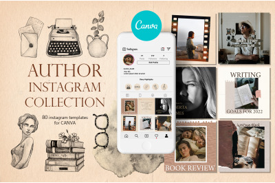 Author Social Media Pack for CANVA