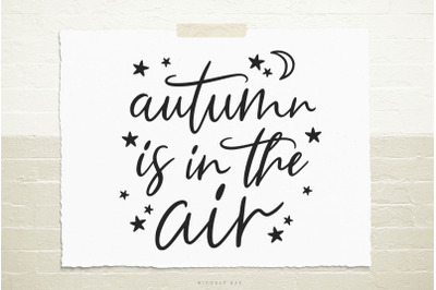Autumn is in the air svg cut file