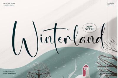 Winterland  Beautiful Script Font