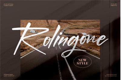 Rolingone  Handwritten Font