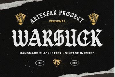 Warsuck - Hand Drawn Blackletter