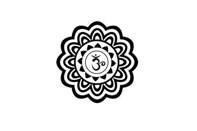 Sahasrara chakra art svg