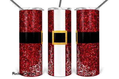 Santa Tumbler Design PNG, Christmas 20oz Skinny Full Wrap Sublimation