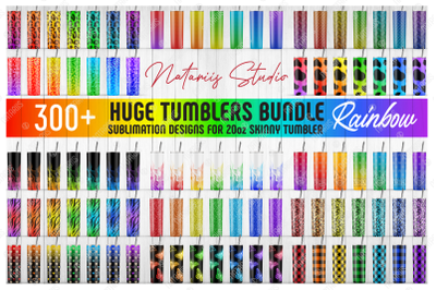 Huge Bundle - 370 Rainbow Seamless Patterns for 20oz SKINNY TUMBLER.