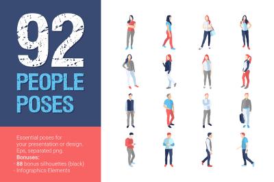 92 People Casual Poses SUPER BUNDLE