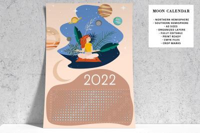Moon Calendar 2022 Calm